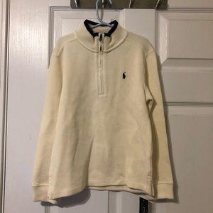 Ralph Lauren cream zip up sweater